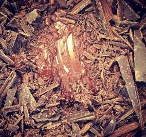 chocolate derretendo ganache