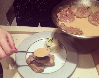 Filet - montando o prato