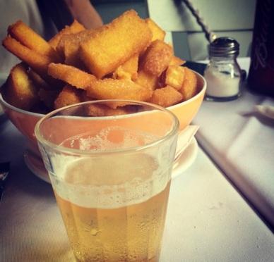 Polenta e cerveja