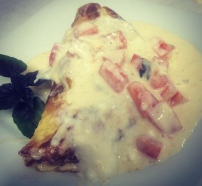 omelete com calda