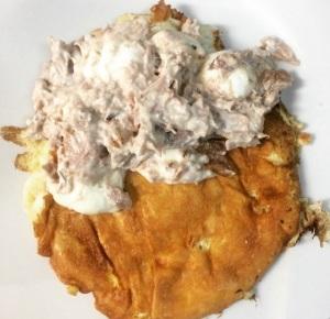 omelete - atum recheando