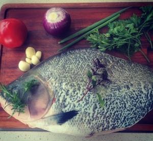peixe mise en place