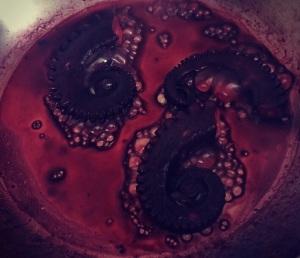polvo no vinho