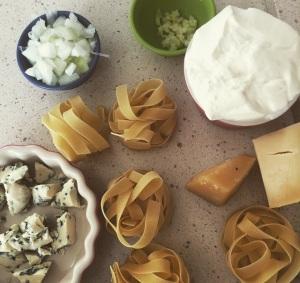 tagliarini com queijos